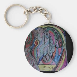 Yaja Nica Designs Basic Round Button Keychain