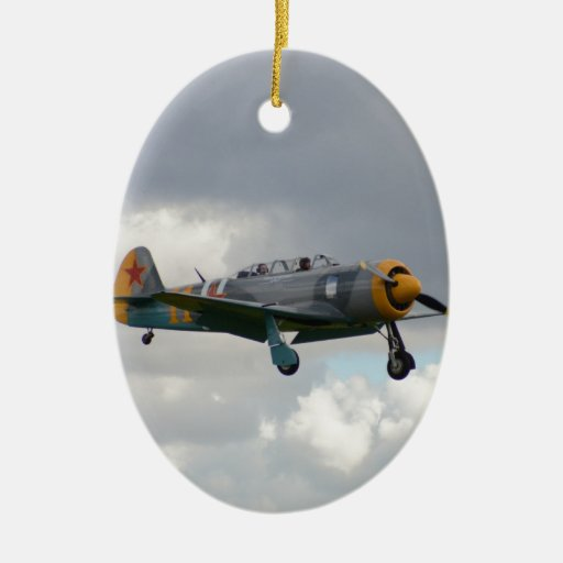 Yak 11 Fighter Trainer Christmas Ornaments