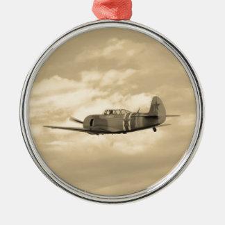 Yak 11 In Flight Round Metal Christmas Ornament