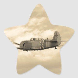 Yak 11 In Flight Star Sticker