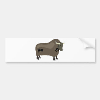 Yak Bumper Sticker