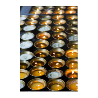 Yak Butter Candles Acrylic Print