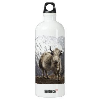 Yak in Nepal Aluminum Water Bottle