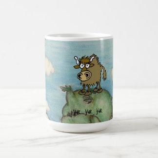 Yak on top of mountain mug