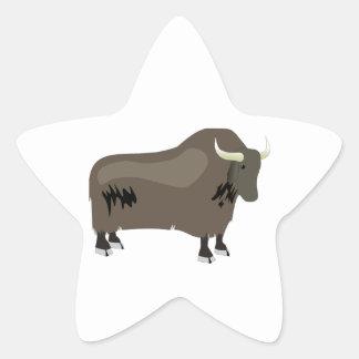Yak Star Sticker