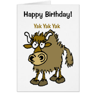 YAK yackety-yak birthday chatting card