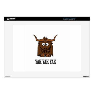 yak yak yak decal for laptop