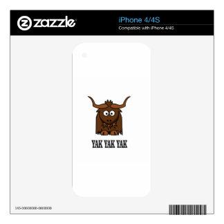 yak yak yak decal for the iPhone 4