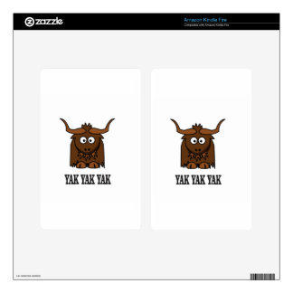yak yak yak decals for kindle fire