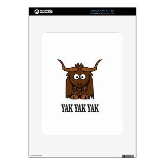 yak yak yak iPad skins