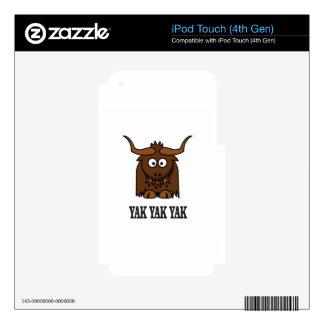 yak yak yak skins for iPod touch 4G