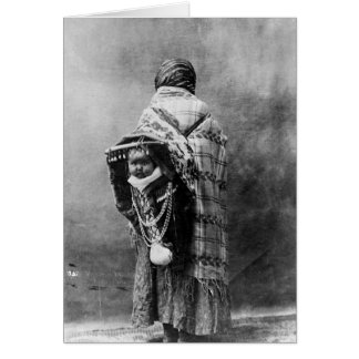 Yakama Native American Mother and Child Card