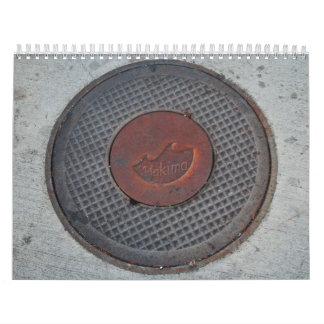 Yakima céntrico calendario de pared