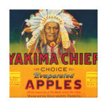 Yakima Chief Apple Label - Yakima, WA Canvas Print