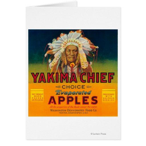 Yakima Chief Apple Label - Yakima, WA Card