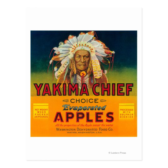 Yakima Chief Apple Label - Yakima, WA Postcard