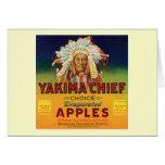 Yakima Chief Apples Vintage Label Card
