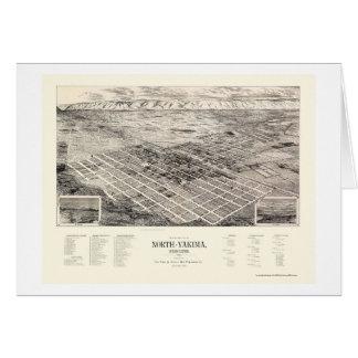 Yakima del norte, mapa panorámico de WA - 1889 Tarjeta De Felicitación