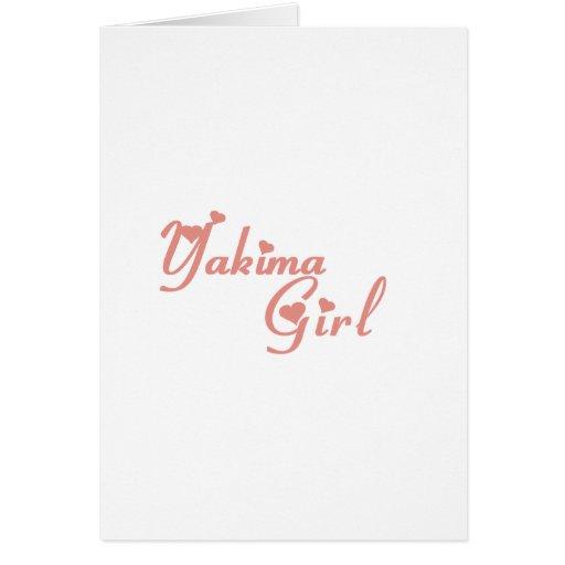 Yakima Girl tee shirts Card