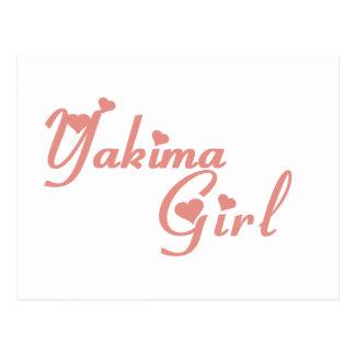 Yakima Girl tee shirts Post Cards
