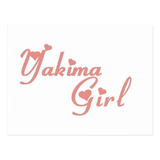 Yakima Girl tee shirts Postcard