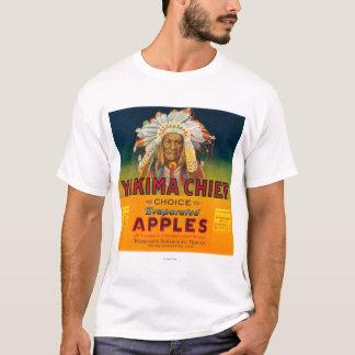 Yakima principal Apple etiqueta - Yakima, WA Playera