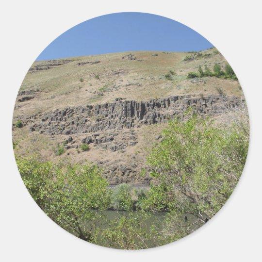 Yakima River Canyon Classic Round Sticker