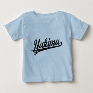 Yakima script logo in black distressed baby T-Shirt