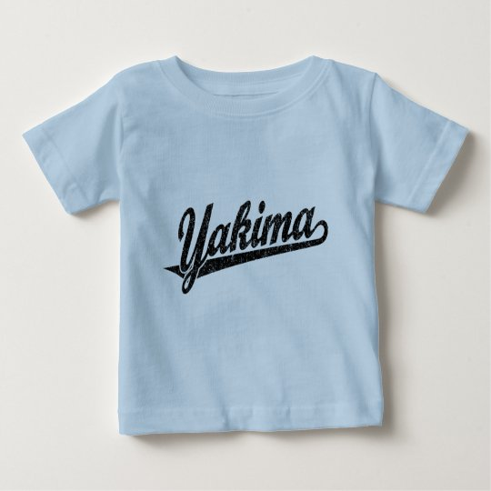 Yakima script logo in black distressed baby T-Shirt