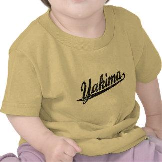 Yakima script logo in black distressed tshirts