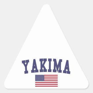 Yakima US Flag Triangle Sticker