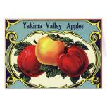 Yakima Valley Apples Vintage Fruit Crate Label Art Card