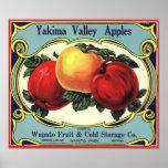Yakima Valley Apples Vintage Fruit Crate Label Art Print