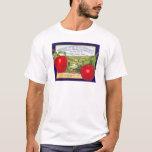Yakima Valley Apples - Vintage Fruit Crate Label T-Shirt