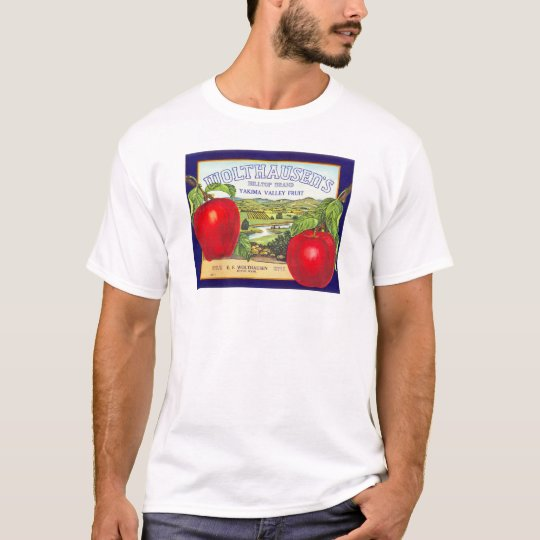 Yakima Valley Apples - Vintage Fruit Crate Label T-Shirt