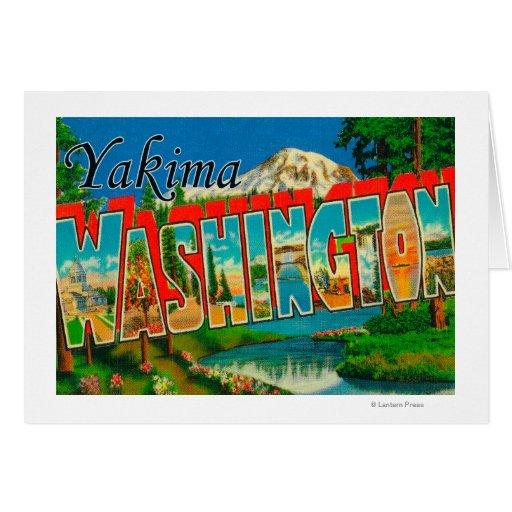 Yakima, Washington - escenas grandes de la letra Tarjeta De Felicitación
