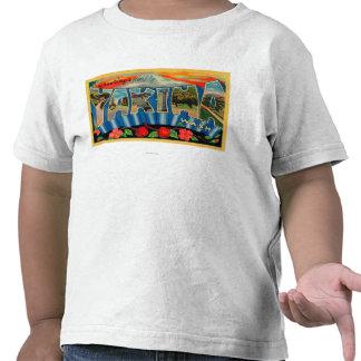 Yakima, Washington - Large Letter Scenes 2 T-shirt