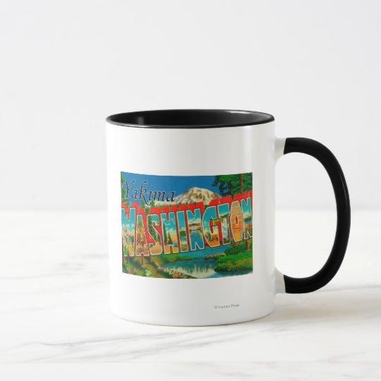 Yakima, Washington - Large Letter Scenes Mug