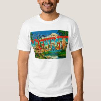 Yakima, Washington - Large Letter Scenes T Shirt