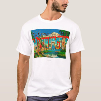 Yakima, Washington - Large Letter Scenes T-Shirt
