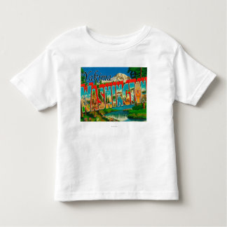 Yakima, Washington - Large Letter Scenes Toddler T-shirt