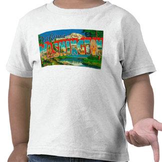 Yakima, Washington - Large Letter Scenes Tee Shirt