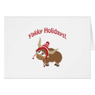 Yakky Holidays! Winter Yak Card