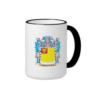 Yakovlev Coat of Arms - Family Crest Ringer Coffee Mug