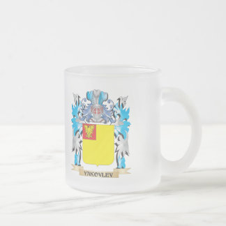 Yakovlev Coat of Arms - Family Crest 10 Oz Frosted Glass Coffee Mug