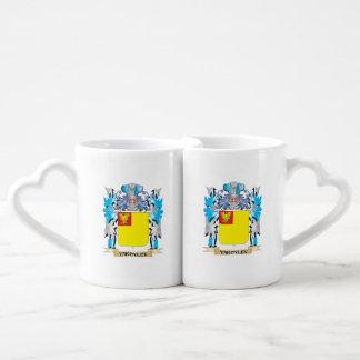 Yakovlev Coat of Arms - Family Crest Couples' Coffee Mug Set