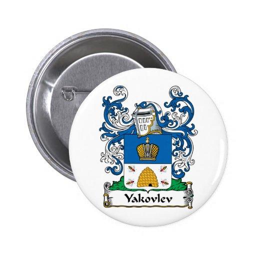 Yakovlev Family Crest Pinback Button
