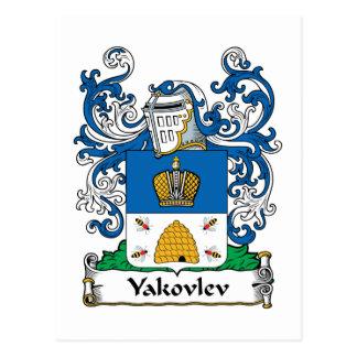 Yakovlev Family Crest Post Cards