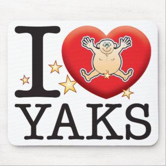 Yaks Love Man Mouse Pad