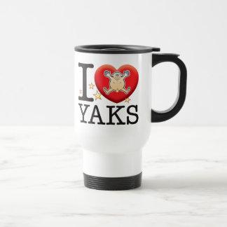 Yaks Love Man 15 Oz Stainless Steel Travel Mug